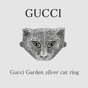 Authentic Gucci Garden Silver Cat ring